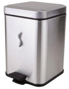T101059 5 Lt brushed s. steel Pedal waste bin