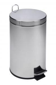T101120 Pattumiera acciaio inox a pedale 12 litri (multipli 4 pz)