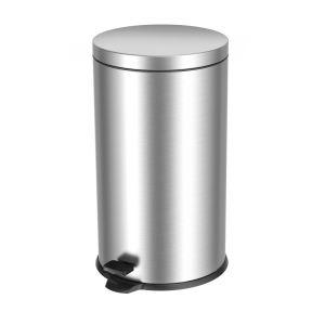 T101400 Pattumiera in acciaio inox a pedale 40 litri