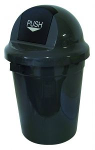 T102010 Push bin plastic grey 110 liters (Pack of 3 pieces)