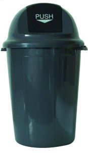 T102011 Push bin plastic grey 80 liters (Pack of 4 pieces)