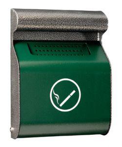 T103013 Portacenere murale acciaio verde/silver da esterno 3 litri