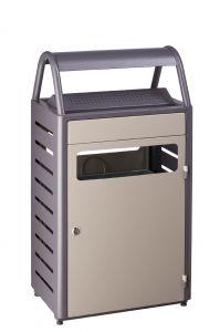T103015 Corbeille avec cendrier gris extérieur 50+8 litres