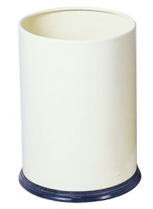 T103030 White coated steel Paper bin 12 liters
