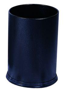 T103031 Corbeille à papier Métal noir 12 litres