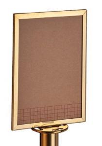 T103383 Panneau d'indication en acier doré pour potelet