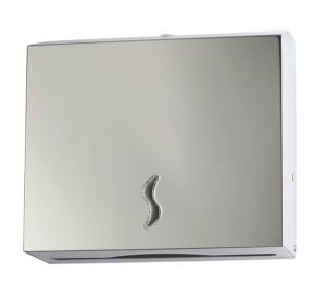 T105011 AISI 430 polished stainless steel Paper towel dispenser 200 sheets