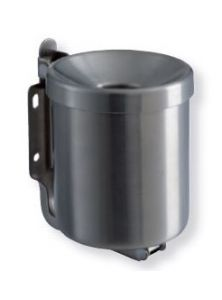 T106001 Brushed stainless steel Wall mounted ashtray 0,5 liters