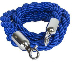 T106320 Corde bleu 2 anneaux de fixation chromés pour poteau 1,5 mètres