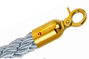 T106333 Corde gris 2 anneaux de fixation dorés pour poteau 1,5 mètre