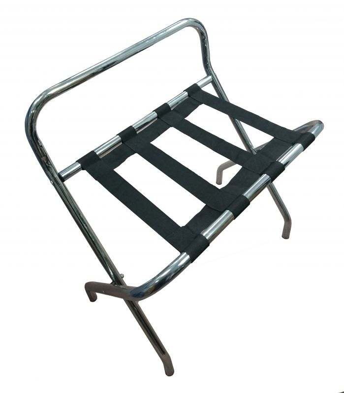 Sgabello porta valigie in metallo for Porta pieghevole