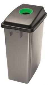 T114208 Conteneur recyclage Couvercle avec fente haut vert