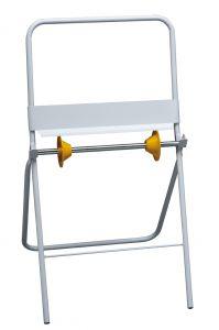 T700030 Portarotolo industriale da appoggio metallo bianco