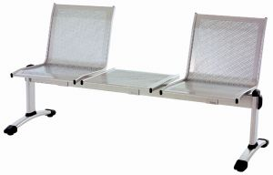 T703051 Panca in acciaio 2 posti con tavolo