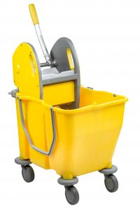 T705002 Secchio doppiavasca su ruote con strizzatore 30 litri