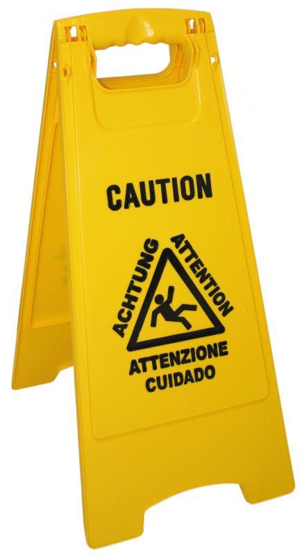 Segnale pericolo pavimento bagnato attenzione pavimento scivoloso - Segnale pavimento bagnato ...