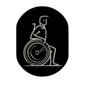T719914 Wheelchair pictogram bathroom Black aluminium