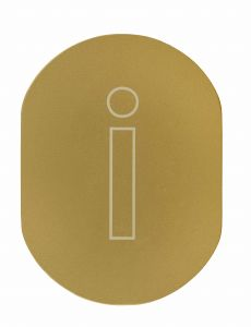 T719930 Golden aluminium pictogram Information