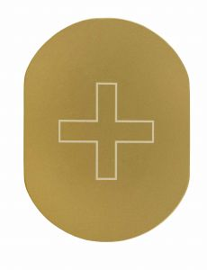 T719938 Plaque pictogramme aluminium doré Infirmerie