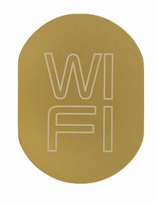T719939 WI FI pictogram Golden aluminium