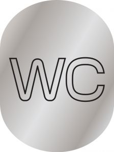 T719953  WC pictogram bathroom Brushed aluminium