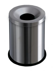 T770000 Gettacarte antifuoco acciaio inox satinato 15 litri