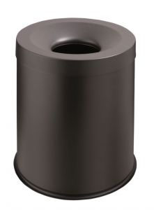 T770001 Black steel Fire proof paper bin 15 liters