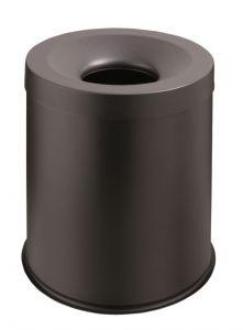 T770001 Corbeille anti-feu métal noir 15 litres