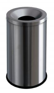 T770010 Corbeille anti-feu acier inox 50 litres