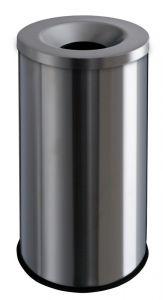 T770020 Corbeille anti-feu métal gris 90 litres