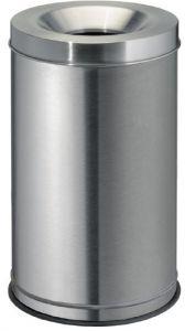 T770030 Corbeille anti-feu acier inox 30 litres
