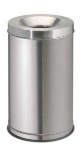 T770040 Corbeille anti-feu acier inox 120 litres