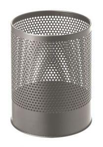 T770112 Corbeille à papier perforée metal gris 14 litres