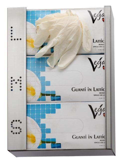 qualità affidabile tra qualche giorno vasta selezione di Distributore murale di guanti monouso in acciaio inox
