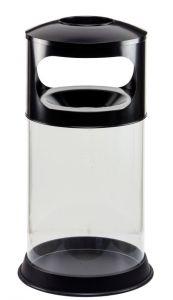 T774001 Corbeille transparent anti-feu avec cendrier 110 litres