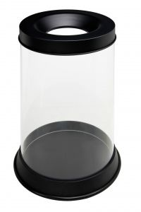 T774041 Transparent fireproof waste bin 110 liters