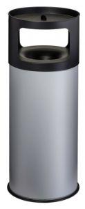 T775092 Portacenere-gettacarte Antifuoco metallo grigio 90 litri con sabbia