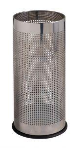 T775110 Porte-parapluie cylindrique perforé en acier inox