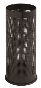 T775111 Black perforated steel umbrella stand