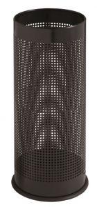 T775111 Porte-parapluie cylindrique perforé en metal noir