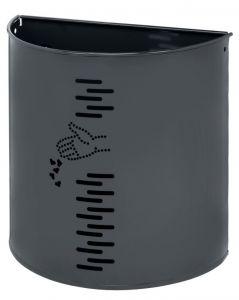 T778051 Gettacarte in acciaio grigio per esterno 20 litri