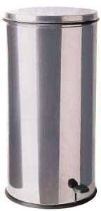 T790621 Poubelle cylindrique en inox avec pédale 70 litres