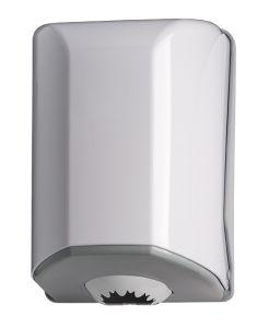 T908024 Distributore di carta in bobina a srotolamento centrale ABS bianco