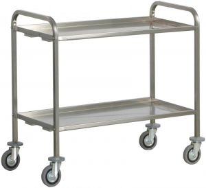 CA 1392P Stainiess steel service trolley heavy trantrasport 200 Kg 2 shelves 92x67x98h