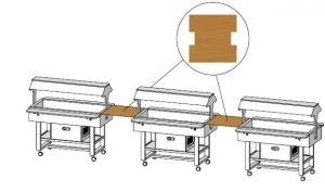 MLUNW Étagère en bois Wengé carrée de 68x70