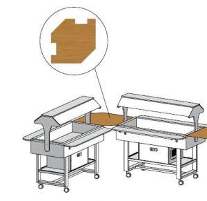 TANUN Mensola legno angolare 88x88