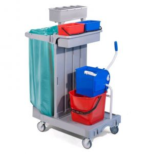 TCA 1614 Multi-purpose plastic trolley for cleaning 92x55x124h