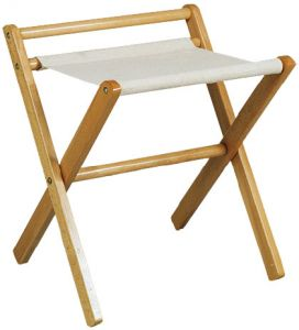 RE4017 Luggage rack walnut wood rack cotton cloth with side-wall