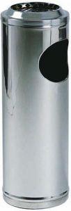 AV4651 Stainless steel waste bin with ashtray Ø25x70h