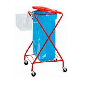 CA1602 Wheeled bag holder with basket